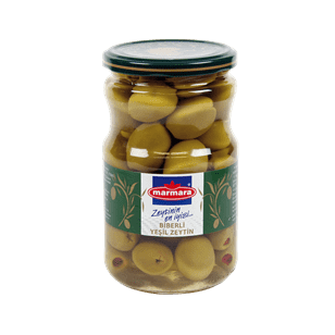Green Olives (with Red Pepper)