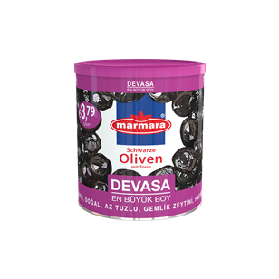 Devasa Whole Black Olives